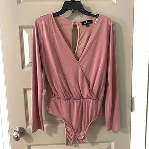 Lulu's Pink Bodysuit NWOT